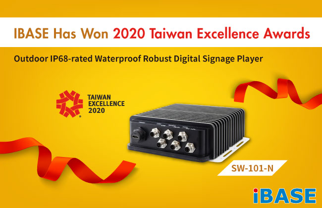 IBASE Has Won 2020 Taiwan Excellence Awards