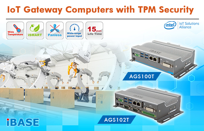 IBASE Launches New IoT Gateways with TPM Security