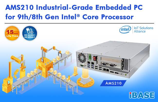 AMS210 Industrial-Grade Embedded PC for 9th/8th Gen Intel® Core Processor