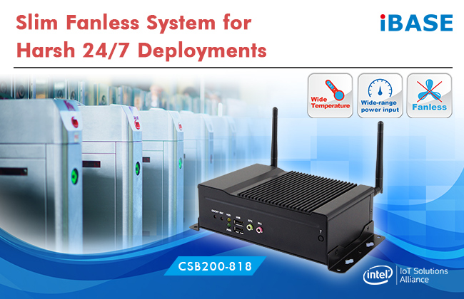 Slim Fanless System for Harsh 24/7 Deployments