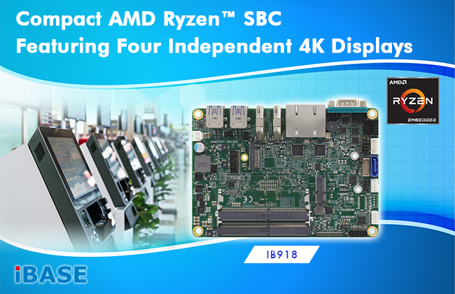 Compact AMD Ryzen™ SBC Featuring Four Independent 4K Displays