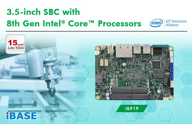 3.5-inch SBC with 8th Gen Intel® Core™ Processors (Whiskey Lake-U)
