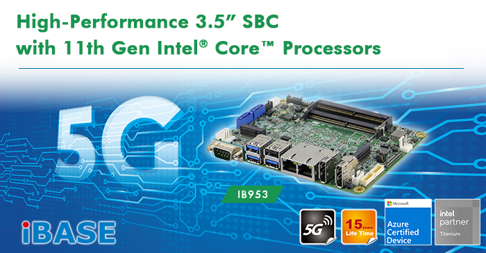 """High-Performance 3.5"""" SBC with 11th Gen Intel® Core™ Processors"""