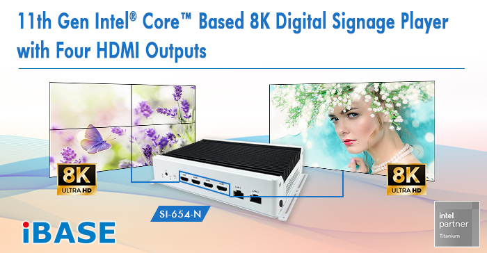 11th Gen Intel Core Based 8K Digital Signage Player with Four HDMI Outputs
